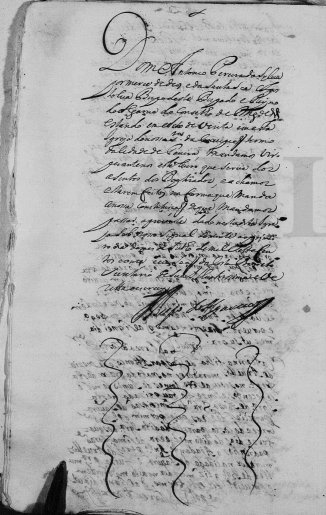A visita do Bispo à igreja da Conceição a 1 de Julho de 1712